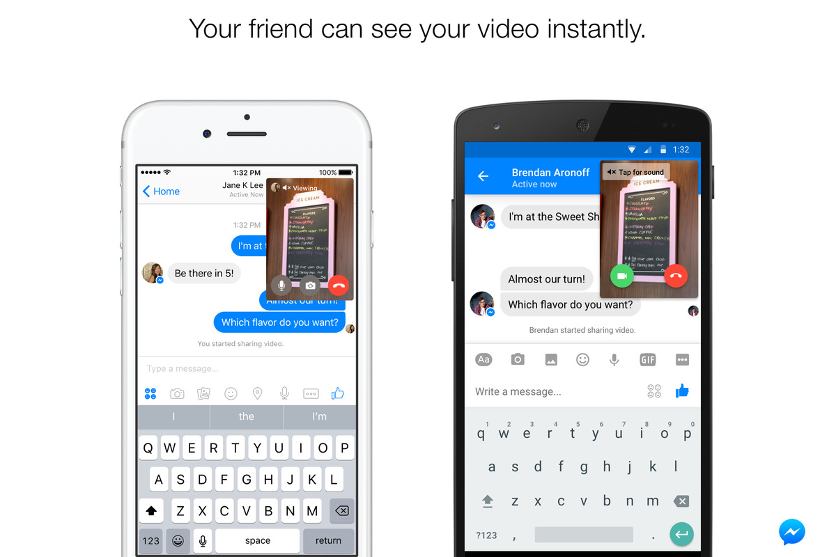 Facebook messenger adds live video to augment your messages the a good rule of thumb in software these days is that any social product without a video feature is going to get one eventually another good rule of thumb is buycottarizona Images