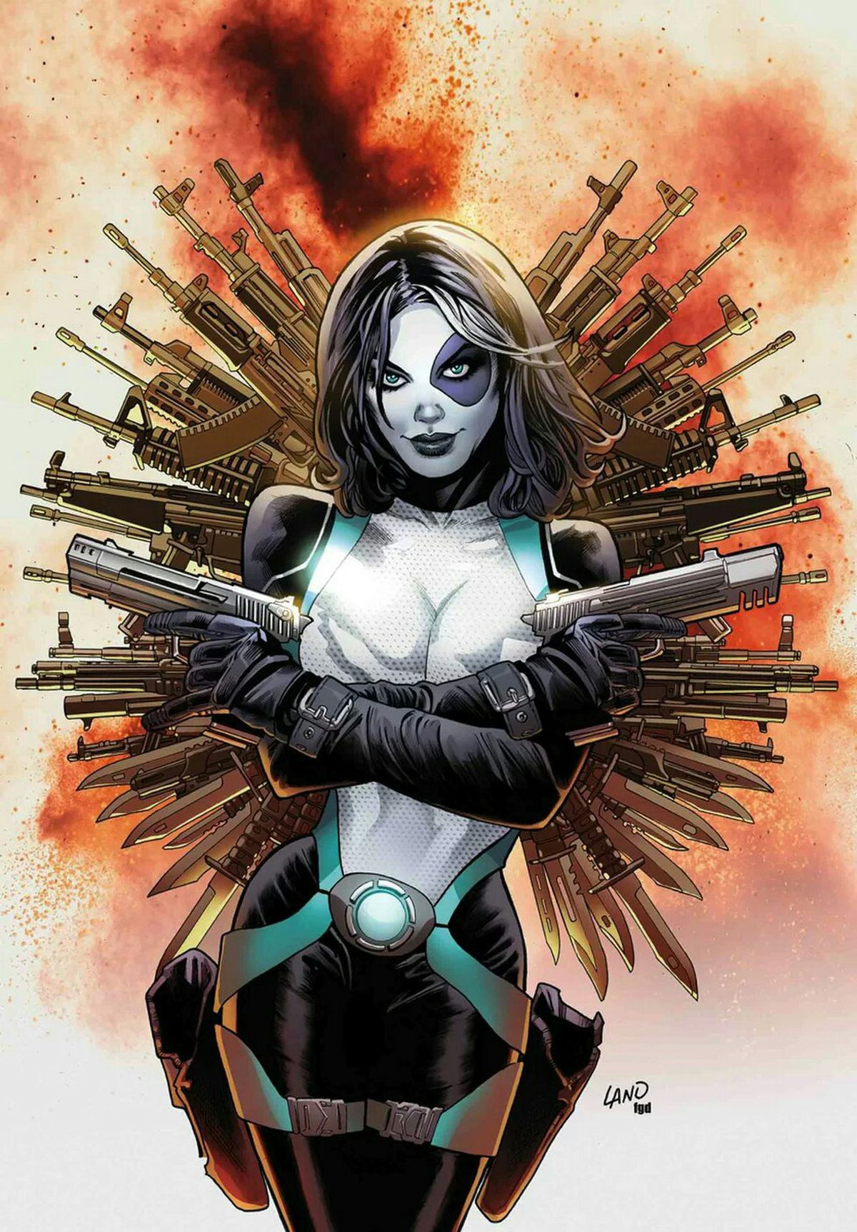 The cover of Domino #2, Marvel Comics (2018).