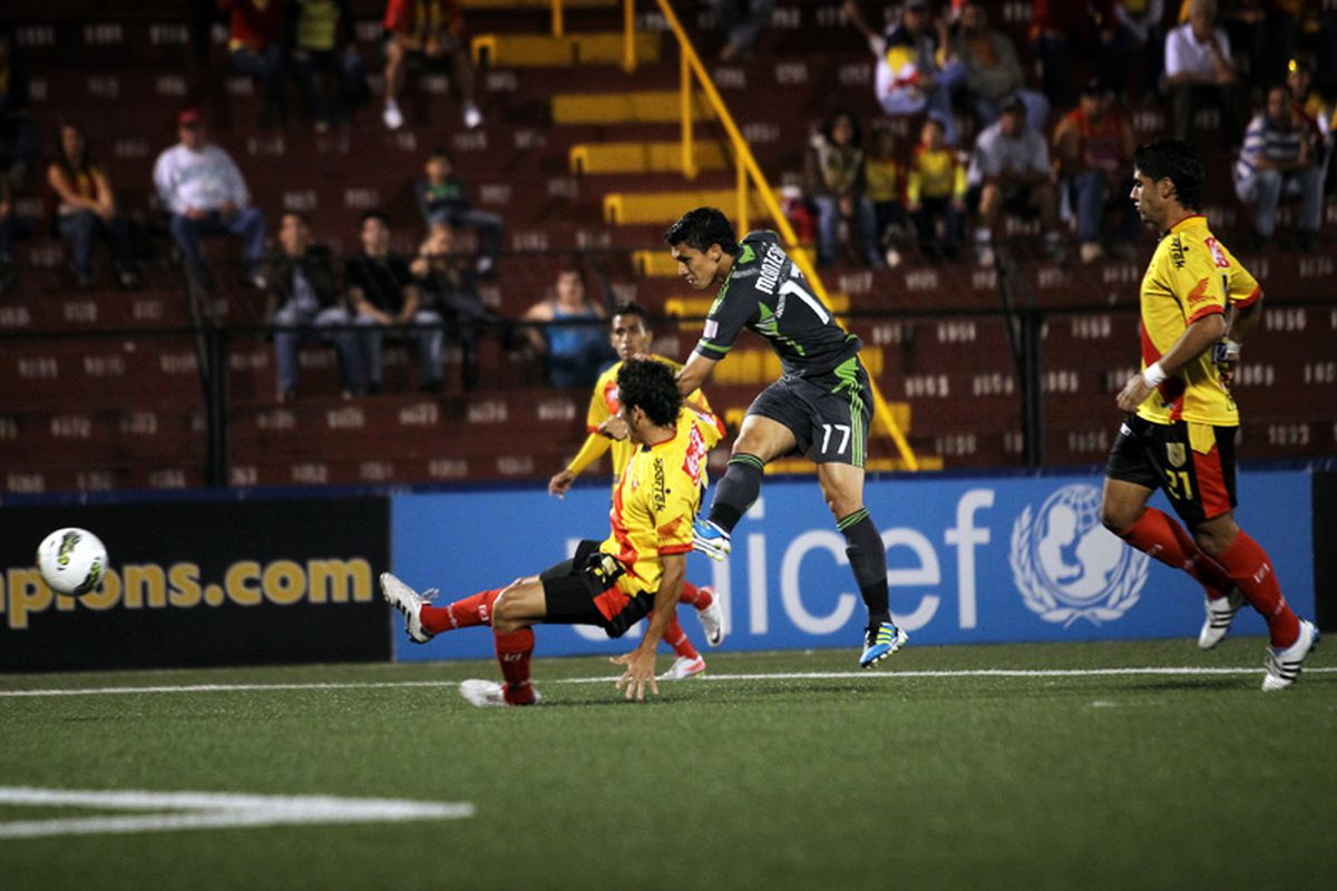 Fredy Montero scored his third and fourth goals in his past three games, all of them in different competitions. (Corky Trewin/Seattle Sounders FC)