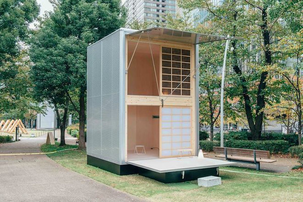 "Hut of aluminum by German designer Konstanti Grcic—All photos via <a href=""https://www.facebook.com/mujihut/"">Muji Hut/Facebook</a>"