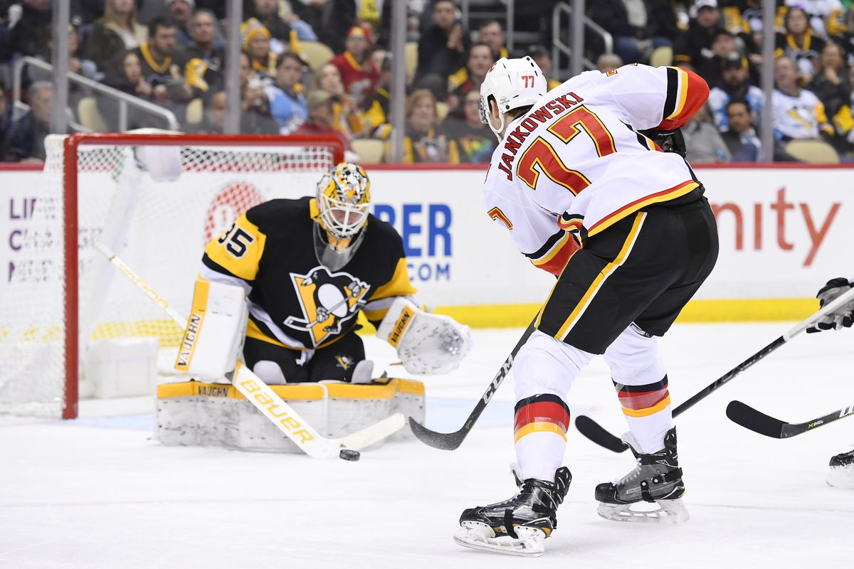 NHL: MAR 05 Flames at Penguins