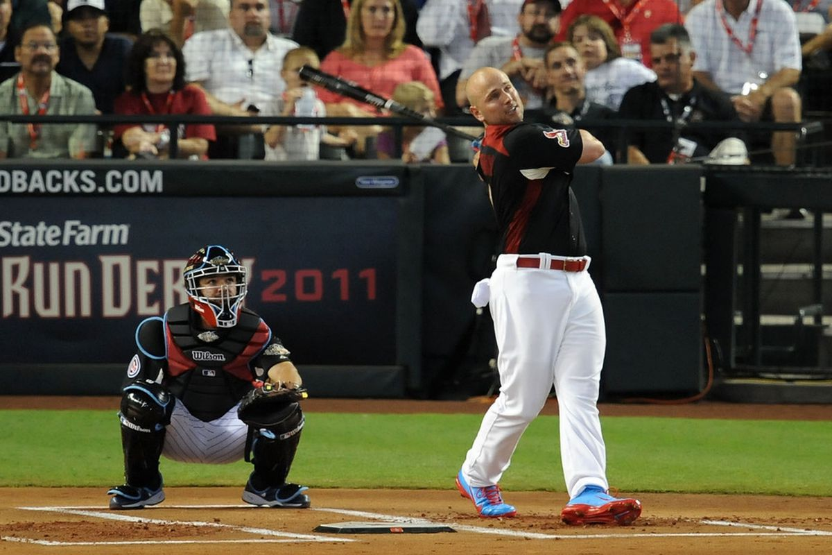 PHOENIX, AZ - JULY 11:  National League All-Star Matt Holliday #7 of the St. Louis Cardinals participates in the first round of the 2011 State Farm Home Run Derby at Chase Field on July 11, 2011 in Phoenix, Arizona.  (Photo by Norm Hall/Getty Images)