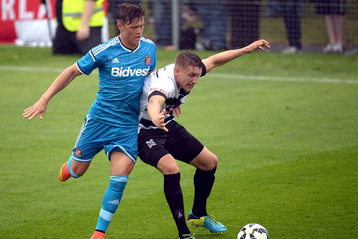 Max Clayton in action against Darlington