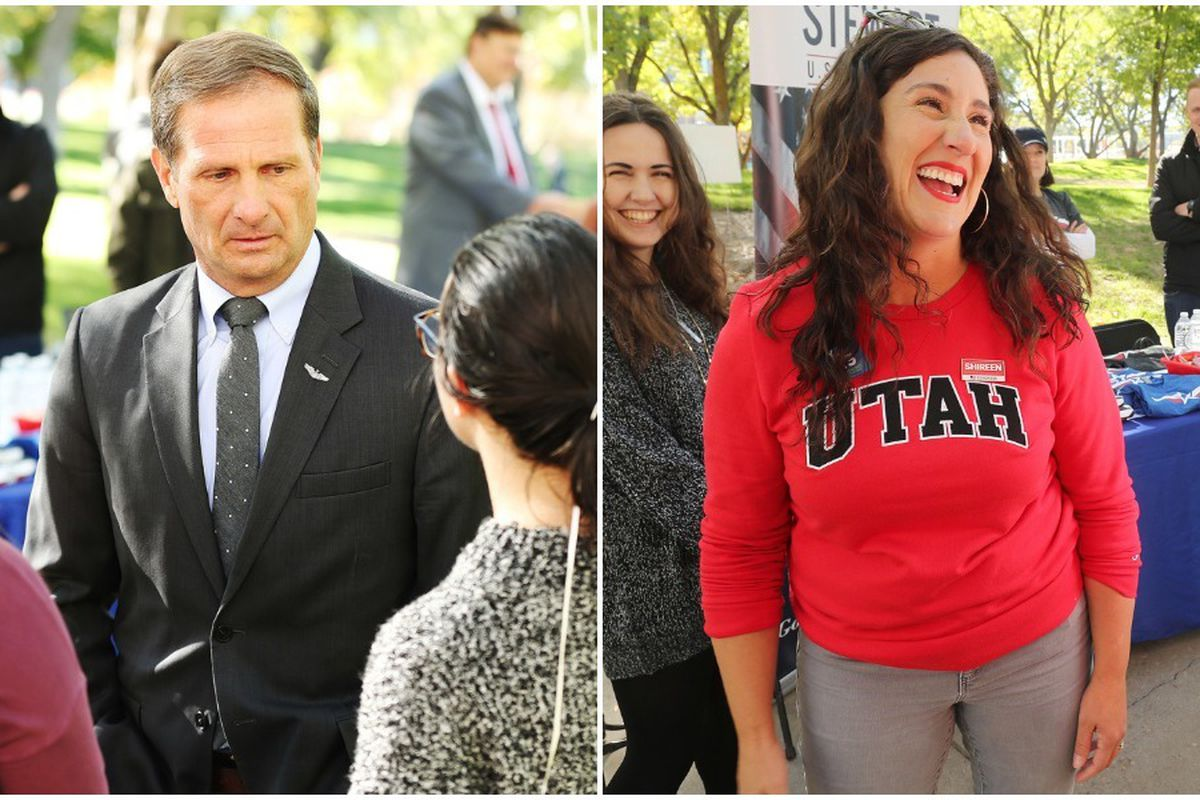 Incumbent Rep. Chris Stewart and Democrat Shireen Ghorbani are vying for Stewart's seat in Utah's 2nd Congressional District.