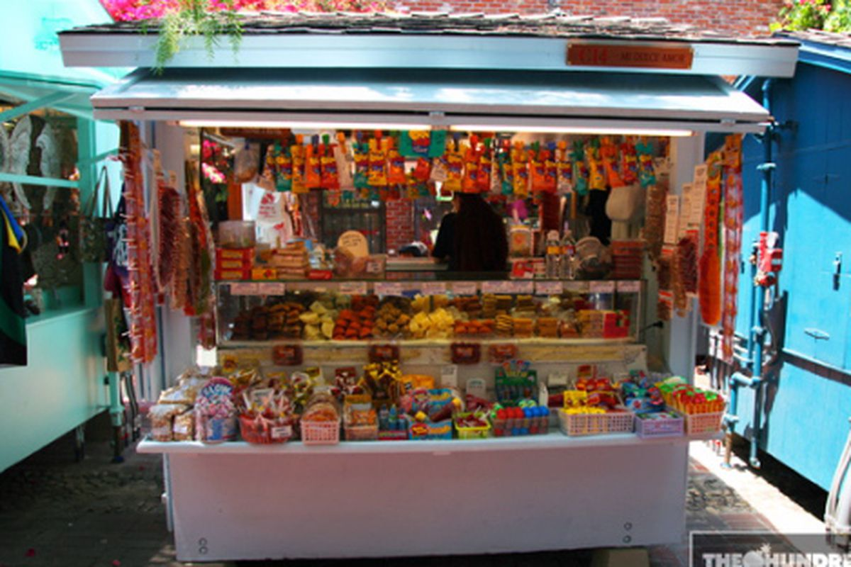 """A cheerful candy shop on Olvera Street in Downtown LA. Photo via <a href=""""http://www.thehundreds.com/wordpress/?p=10959"""">The Hundreds</a>"""