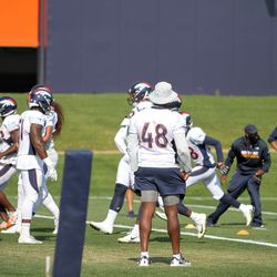 Broncos LB Shaquil Barrett was one of a few Broncos that did not participate in full practice today.