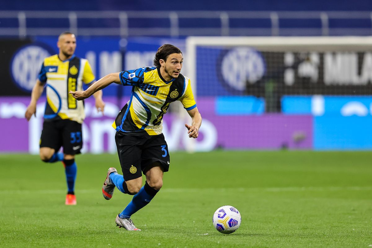 Matteo Darmian of FC Internazionale in action during the...