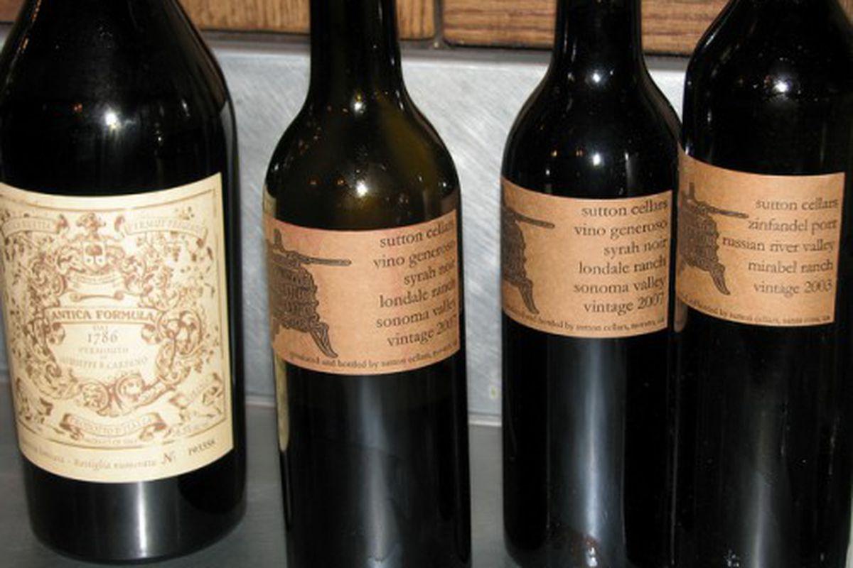 Sutton Cellars wines