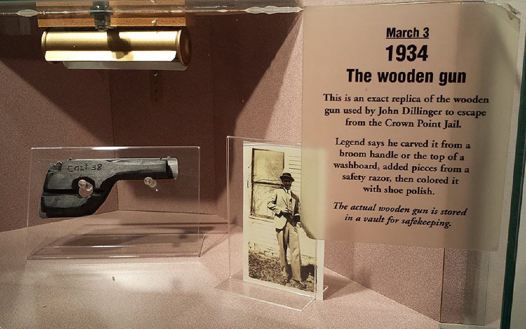 The museum contained photos, clothing and memorabilia, including the wooden gun Dillinger used to escape from a nearby jail. | Sun-Times file photo