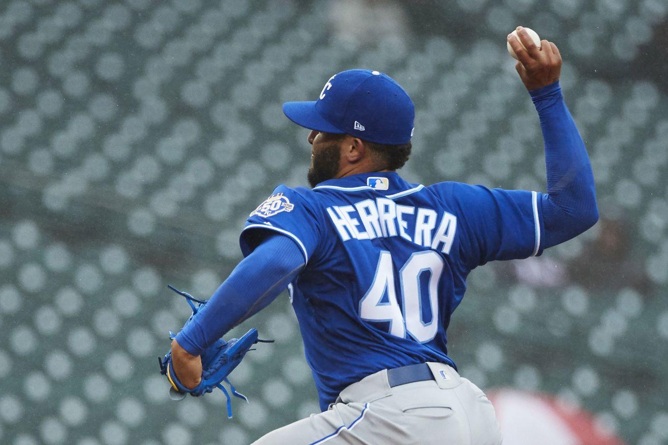 It's early, but Kelvin Herrera looks good