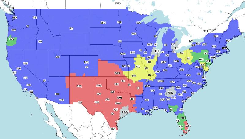 Buccaneers Nfl Week 11 Tv Coverage Map