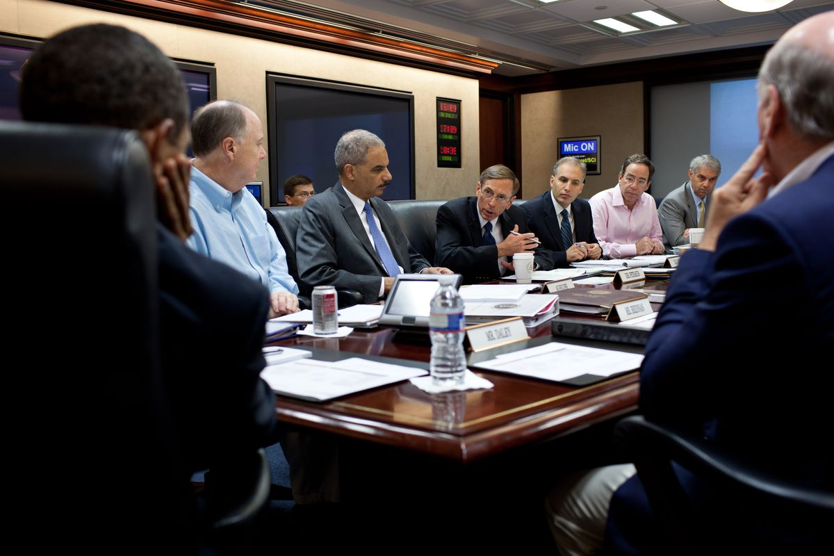 CIA Director David Petraeus speaks in the Situation Room Pete Souza/The White House via Getty Images