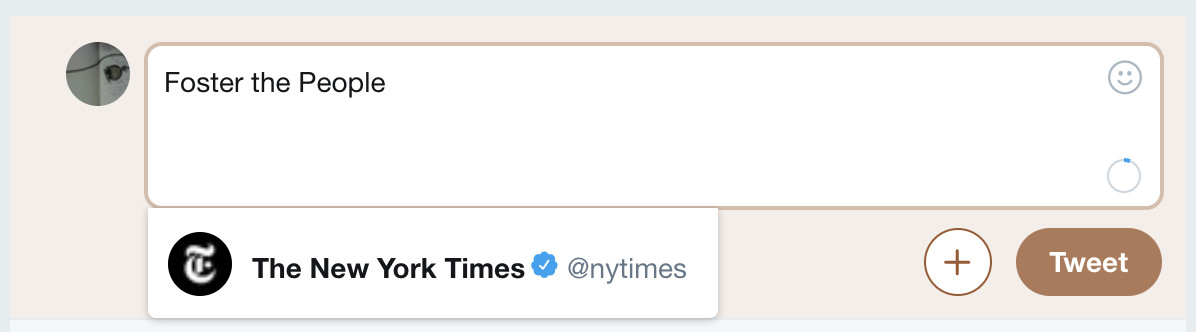 The New York Times Twitter: Foster The People