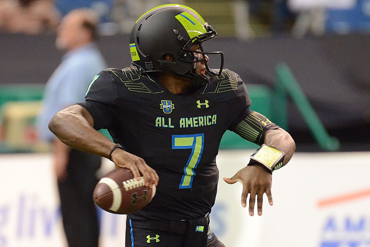 Brandon Wimbush at the Under Armour All-American Game.