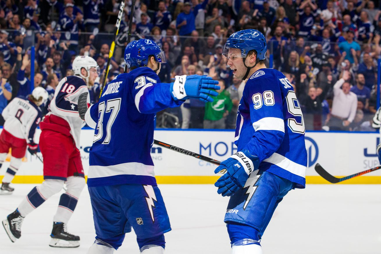 Columbus Blue Jackets v Tampa Bay Lightning - Game One
