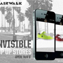 Airwalk's virtual pop-up.