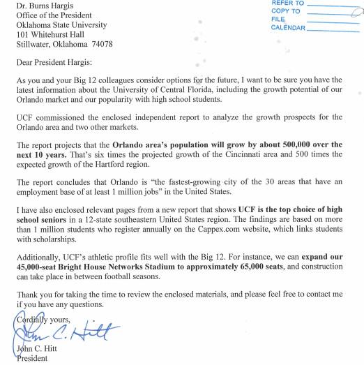 John Hitt Letter