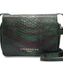 """We love everything about this Liebeskind bag, from the cool pattern to the little gold lettering. A Liebeskind Jill Green <a href=""""http://usa.liebeskind-berlin.com/Jill_Green_New_Snake.html"""">new snake bag</a>, $248."""
