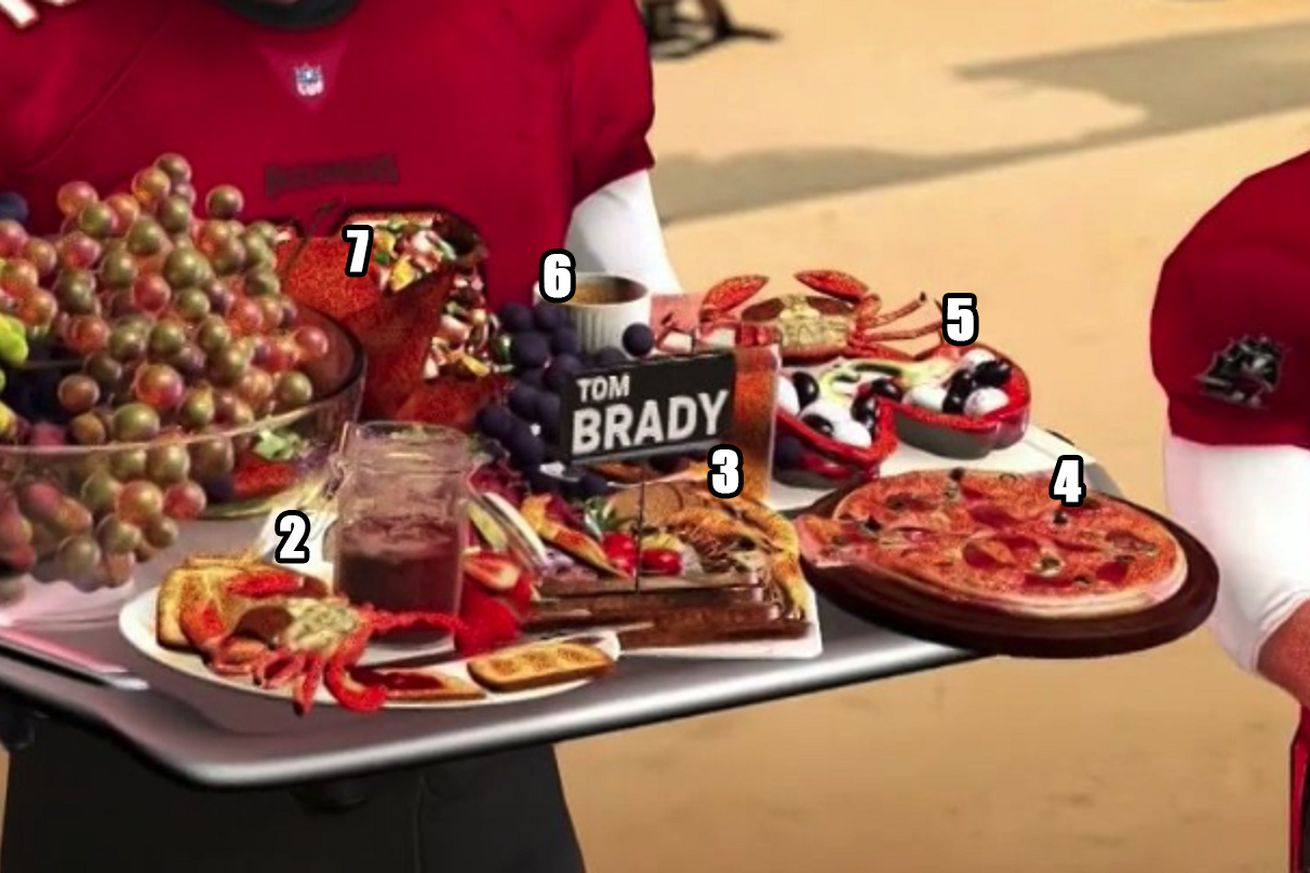 brady food.0 - What the hell was Tom Brady eating in this 'Sunday Night Football' graphic?