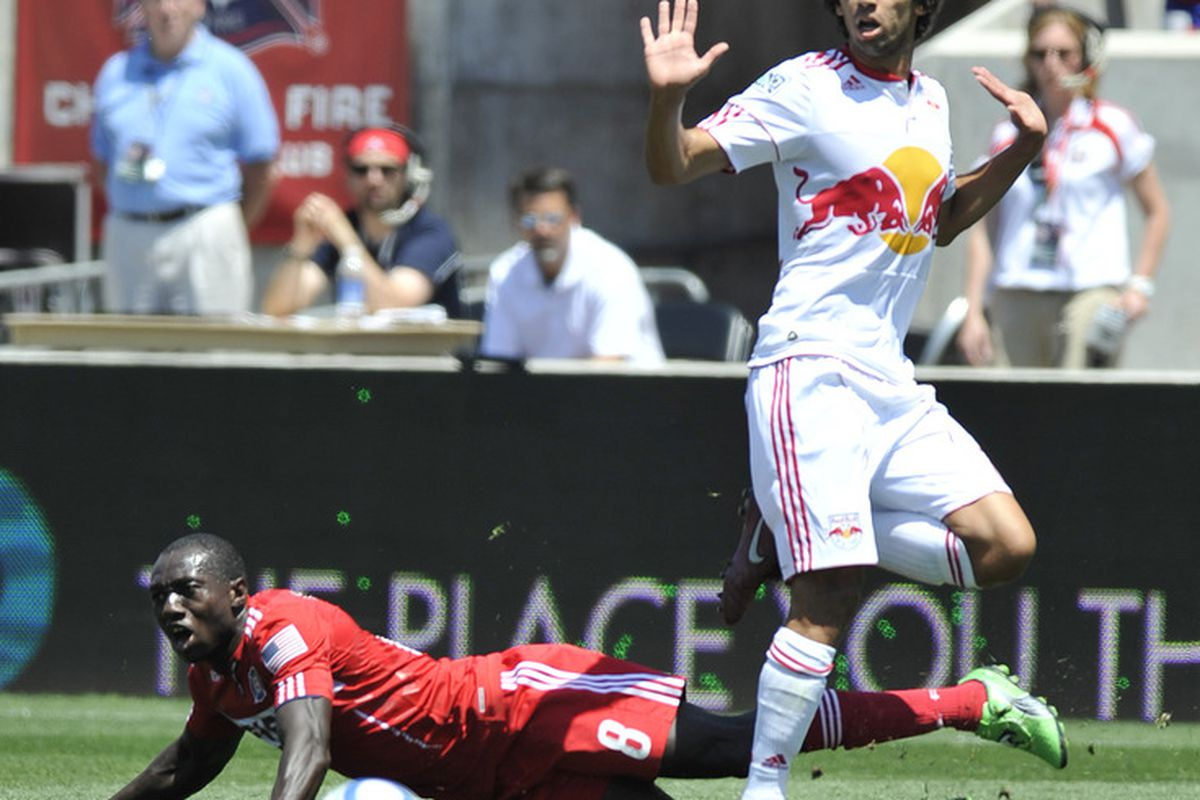 Mehdi Ballouchy will be one of the only players tonight starting for the Red Bulls with any MLS experience.    (Photo by David Banks/Getty Images)
