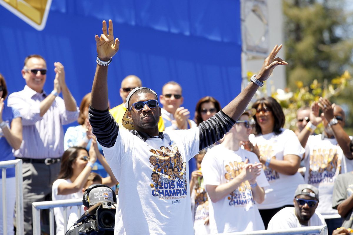 Center Festus Ezeli figures prominently into Golden State's long term plans.
