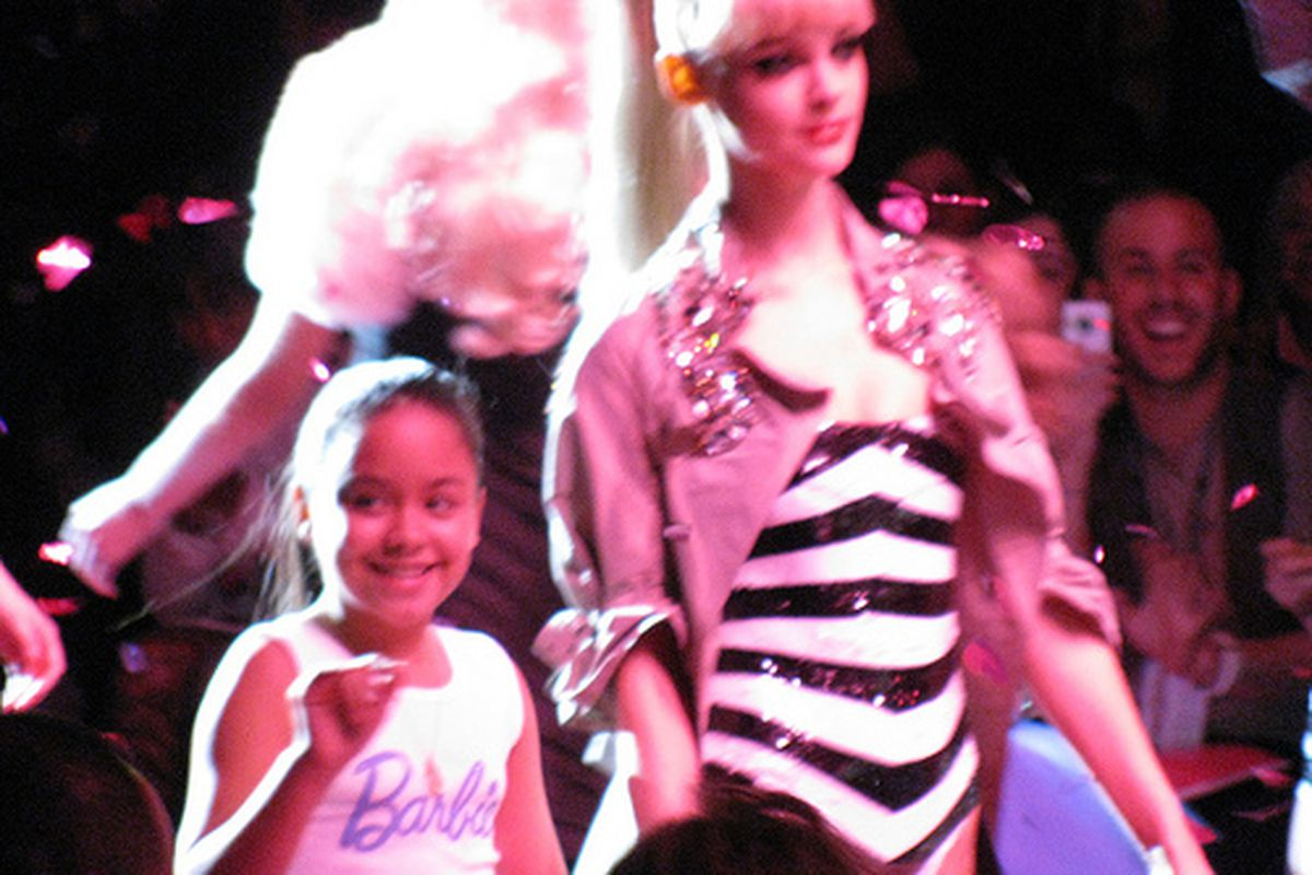 """""""Barbie"""" and friends at New York Fashion Week"""