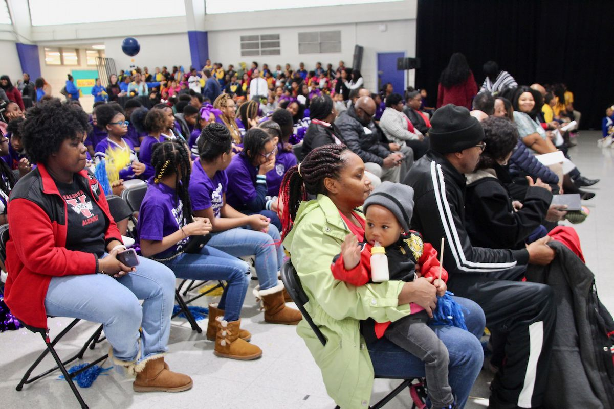 Parents, community leaders, and students gathered for the Journey Community Schools launch party.