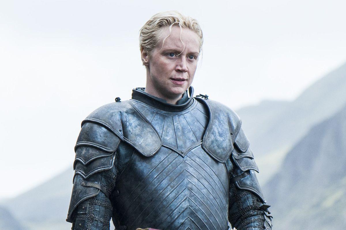 Gwendoline Christie as Brienne of Tarth in Game of Thrones