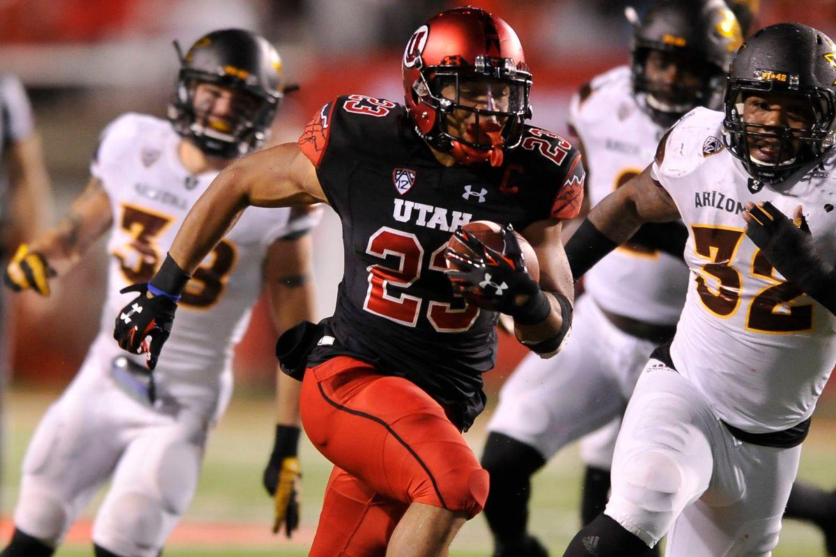 Utah's senior running back, Devontae Booker