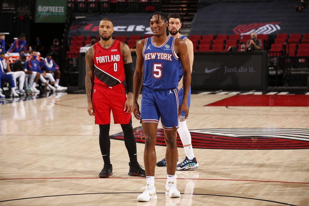 New York Knicks v Portland Trail Blazers