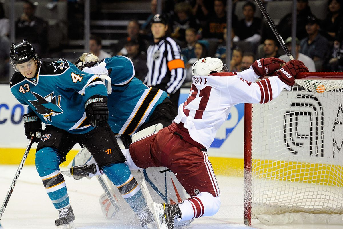 Andy Miele Gets A Leg Up From The San Jose Sharks