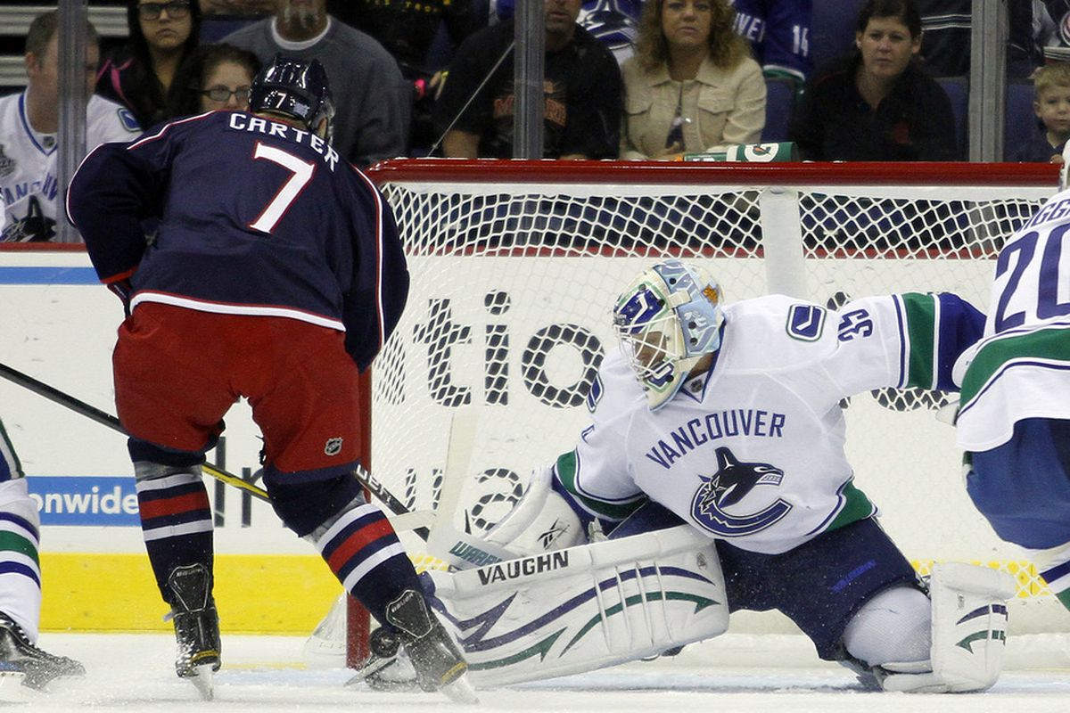 The Blue Jackets will have to search for their first win and gain some momentum without their new #1 center. - Photo by Justin K. Aller/Getty Images