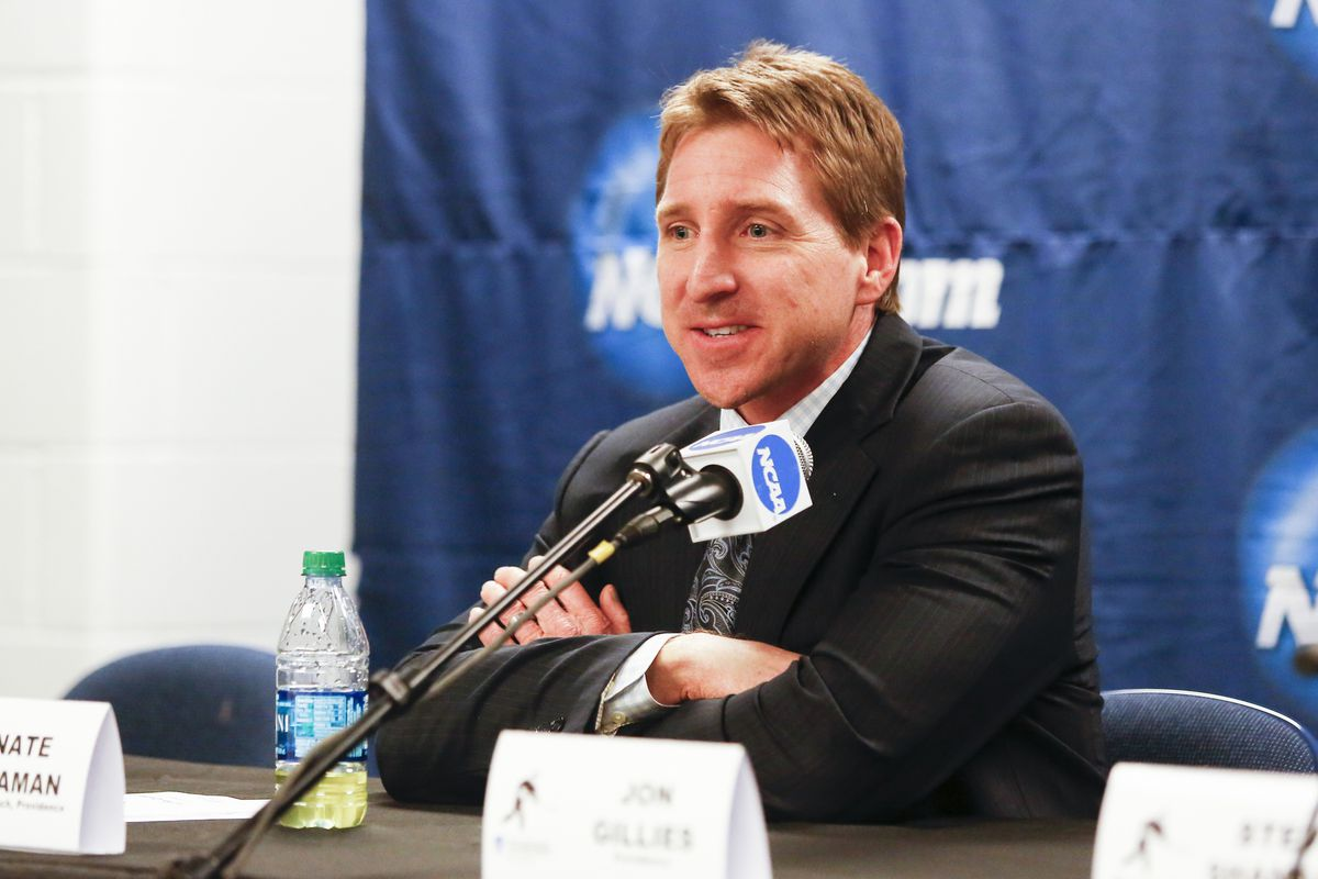 Providence College coach Nate Leaman