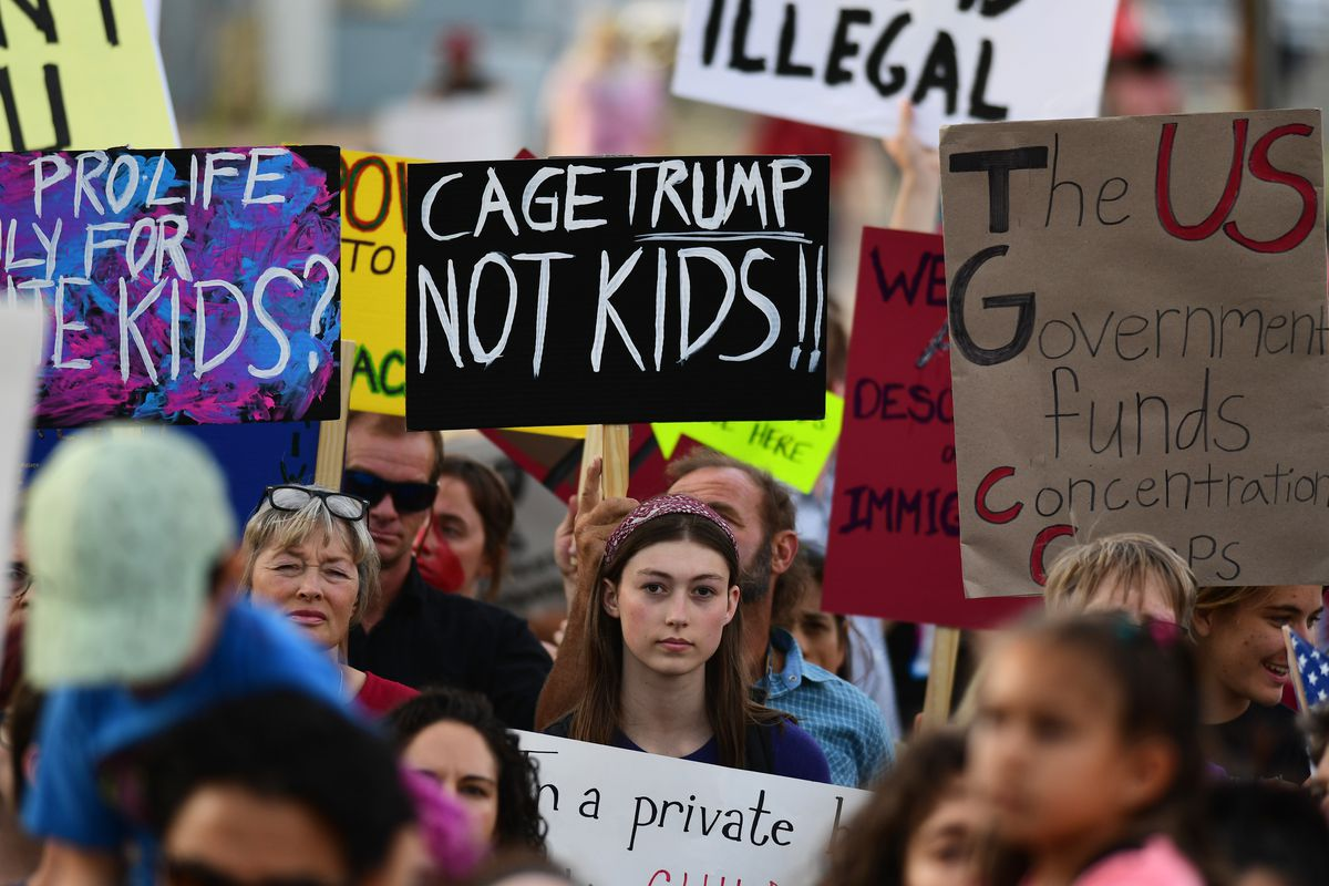 A protest over planned ICE raids in Aurora, Colorado.