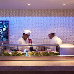 Get set up at the sushi