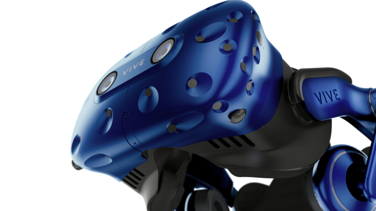 HTC Vive Pro - front angle view from below