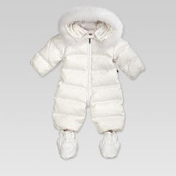 """Gucci's fur-trimmed <a href=""""http://www.gucci.com/us/styles/263150XB7089060#"""">snow suit</a> ($695): Perfect for a winter baby."""