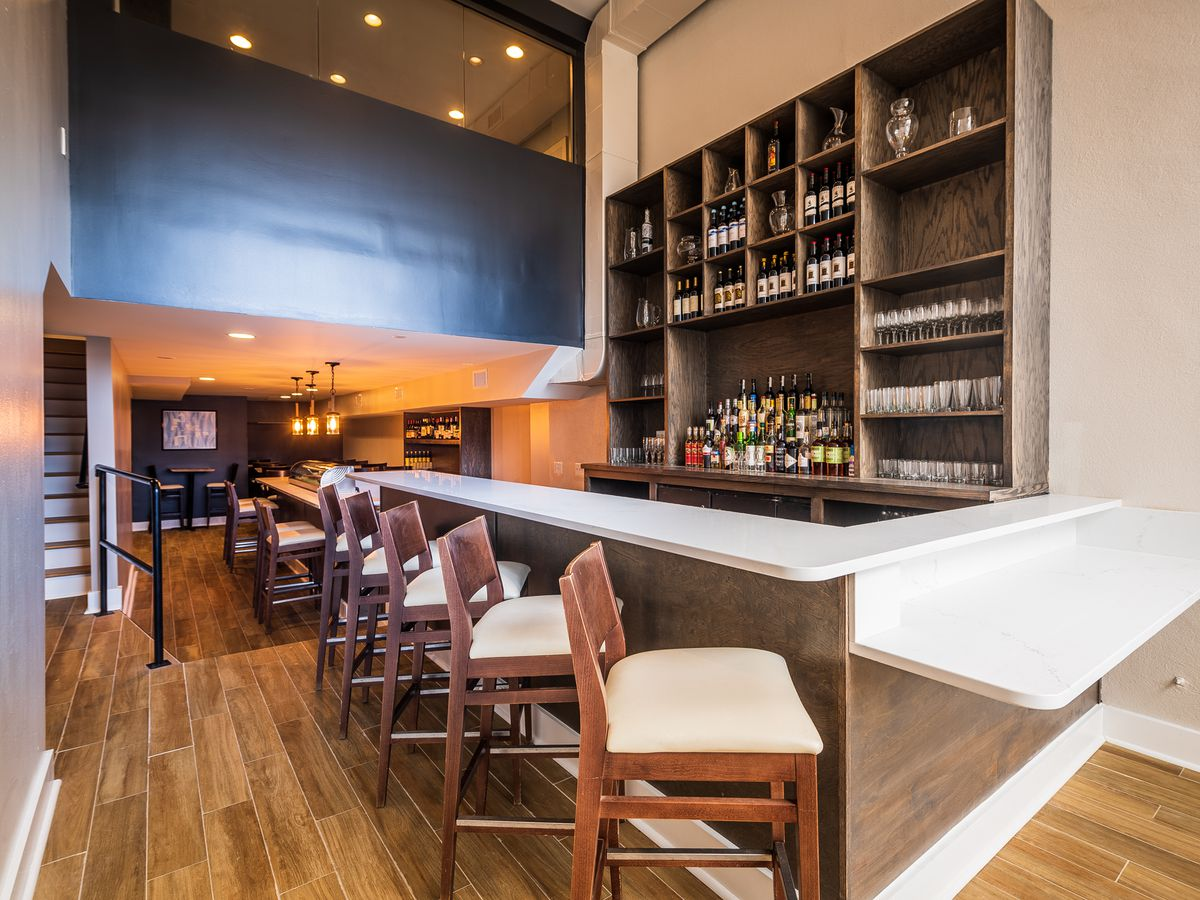 Slate Wine Bar and Bistro after its recent renovation.