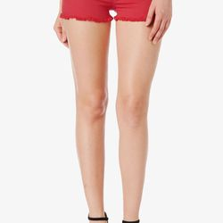 """<b>Hudson Jeans</b> Amber short in red dahlia studded, $165 at <a href=""""http://www.hudsonjeans.com/Amber_Short/pd/c/1042/np/1042/p/11167.html""""target=""""_blank"""">Hudson Jeans</a>"""