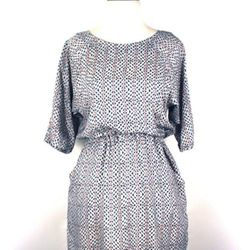 """<a href=""""http://trilliumchicago.com/index.php?product=666+SS14&c=65"""">Beaux Cockatoo dress</a> with bungee-cord waist, $223"""