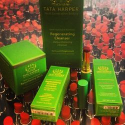 """My friend Tyler dropped off some glorious <b>Tata Harper</b> skincare to play with. Her ingredient list sounds like an entrée that you might eat at Noma. The <a href=""""http://www.tataharperskincare.com/shop-all-skincare"""">products</a> make me feel like fair"""
