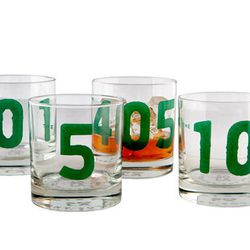 """Trekking through traffic the 405 is so LA...and feels like a hangover in itself. Commemorate the always-in-costruction highway by throwing one back with Sisters of Los Angeles' clever set of freeway shot glasses (<a href=""""http://www.sistersoflosangeles.co"""