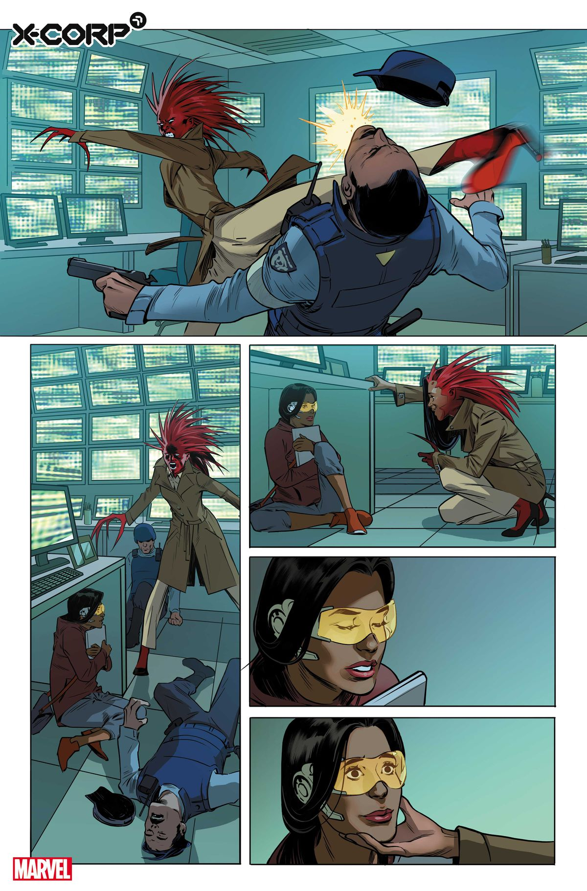 Monet St. Croix Saves Trinary in Preview of X-Corp # 1, Marvel Comics (2021)