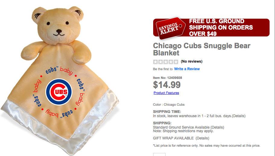 Cubs Bear blanket