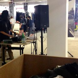 There's a DJ at this sale for Pete's sake!