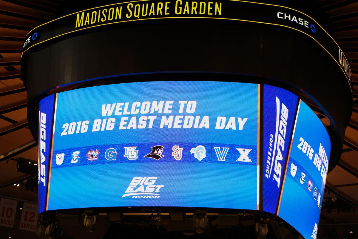 Media Day signage/ scoreboard
