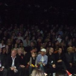 Russell Simmons on the far left and adorable little Kingston (sitting on Gavin's lap) is in the middle of the front row