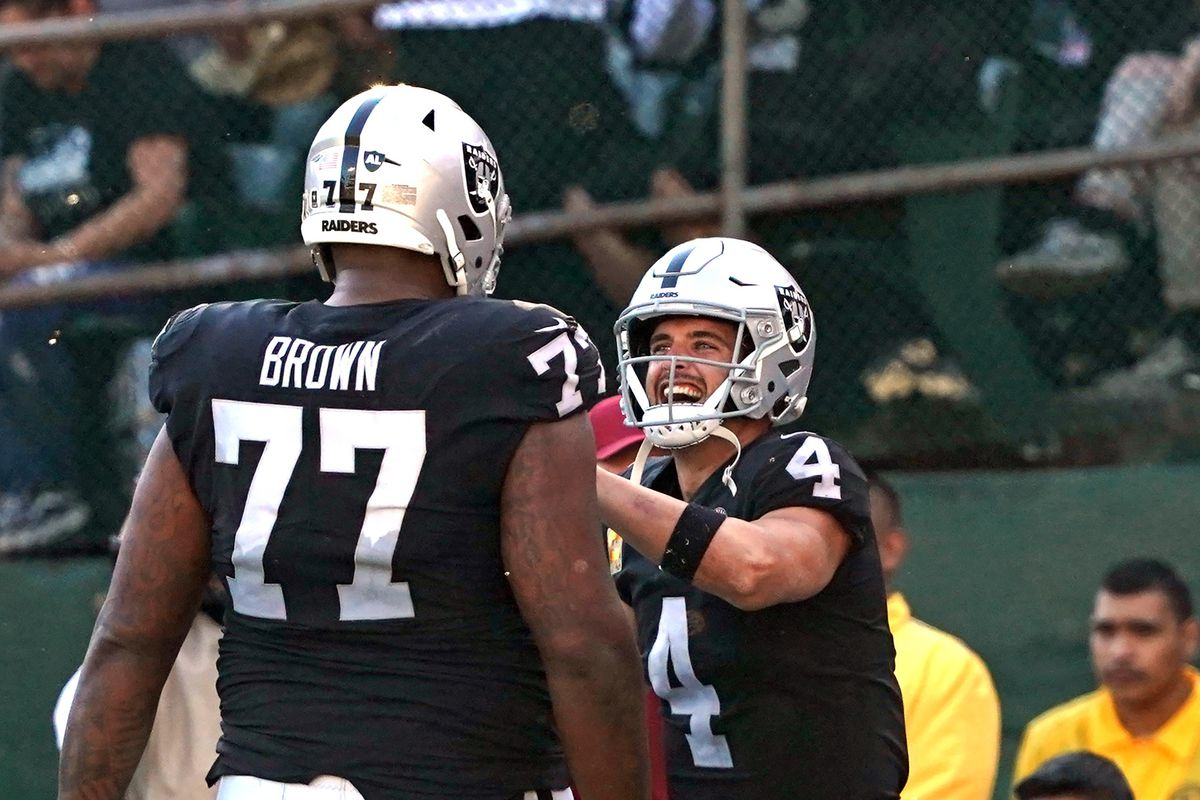 Raiders Wednesday injury report: Brown, Hudson, Jacobs all limited