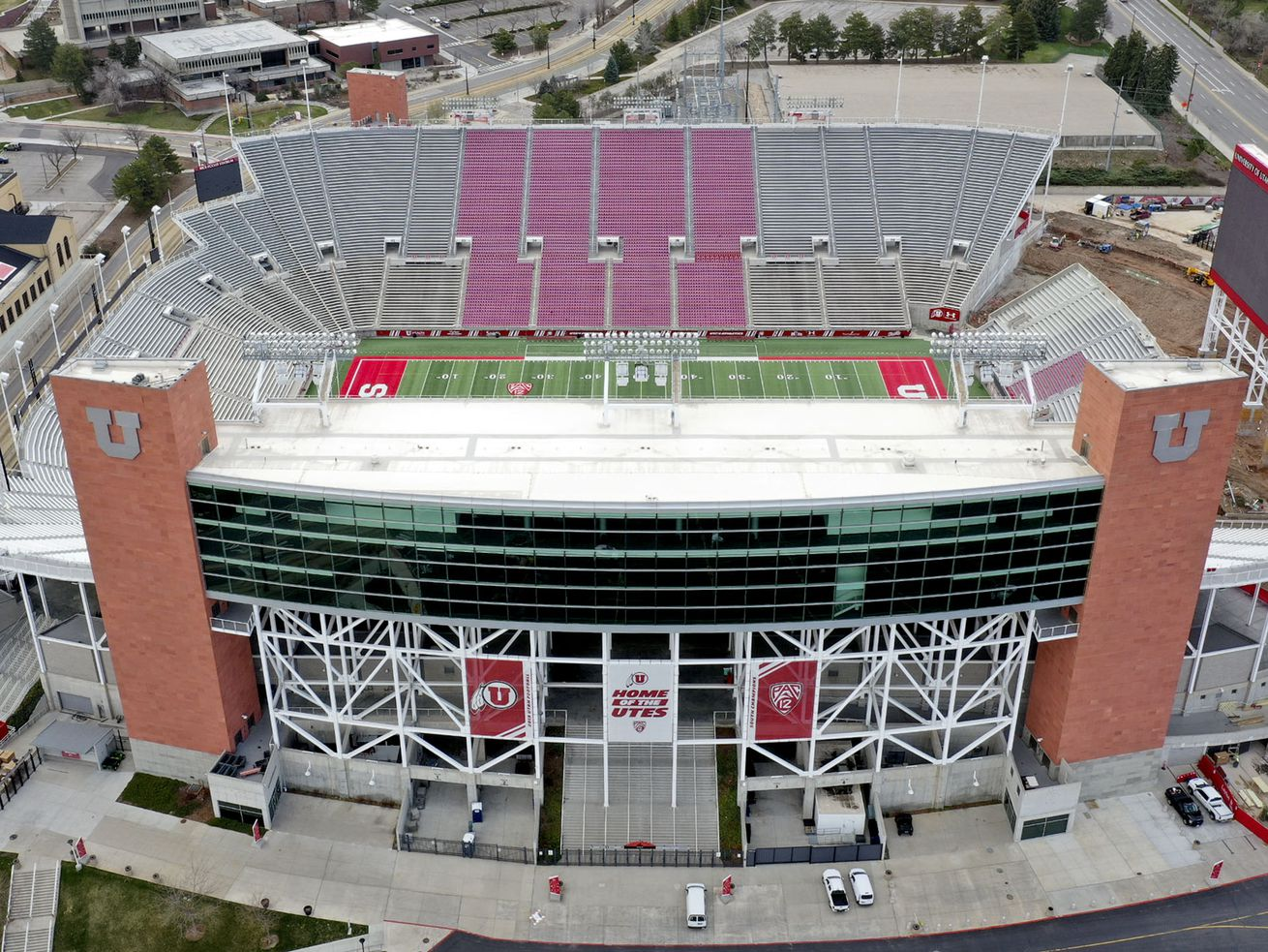 View of Rice-Eccles Stadium in Salt Lake City