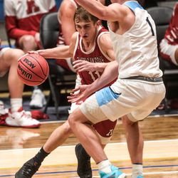 American Fork and Westlake compete in the 6A boys basketball state semifinals at Salt Lake Community College in Salt Lake City on Thursday, March 4, 2021